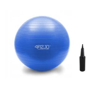 piłka rehabilitacyjna 4fizjo niebieska