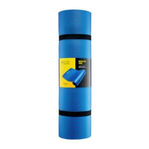 antypoślizgowa mata do ćwiczeń i fitness 4fizjo niebieska